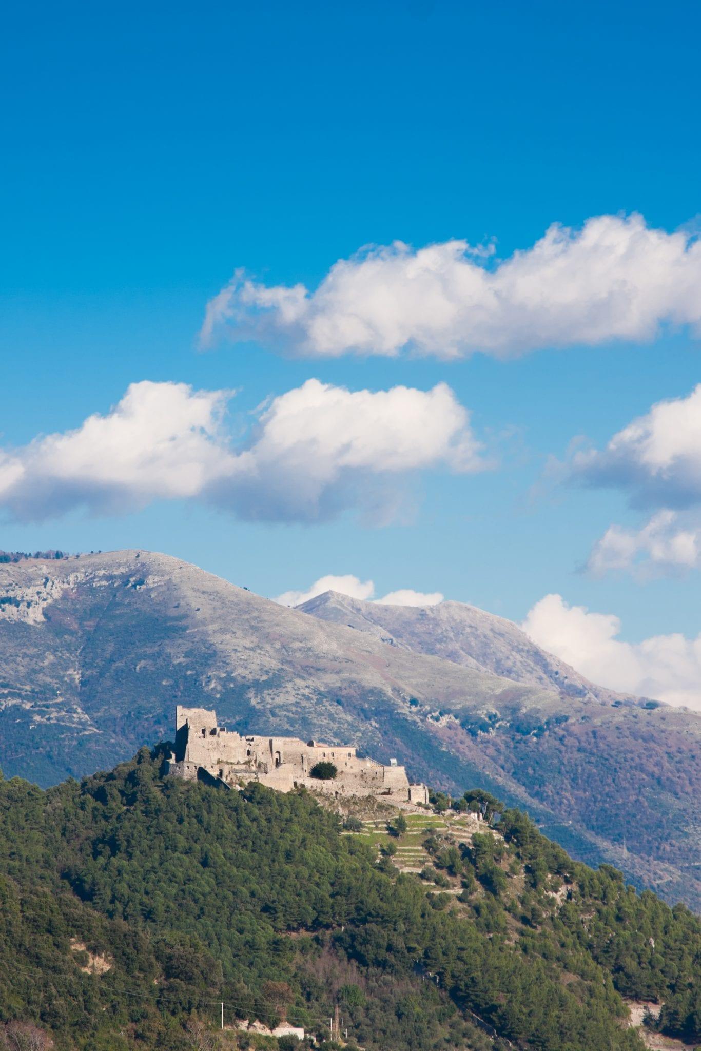 Castle in Salerno on the Amalfi coast, Italy