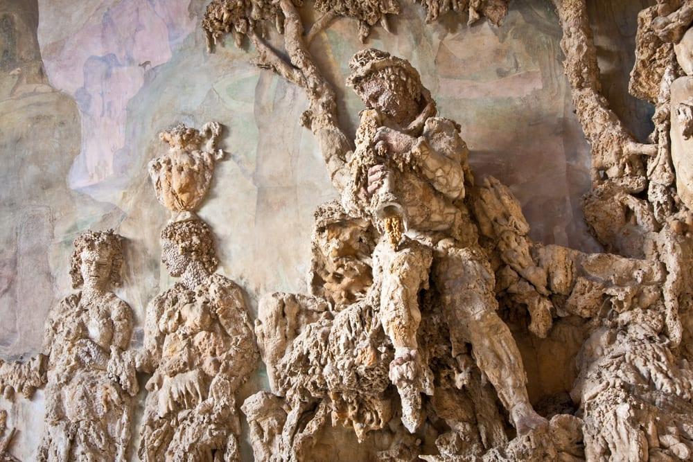 Detail of the grotto in Boboli park in the Oltrarno