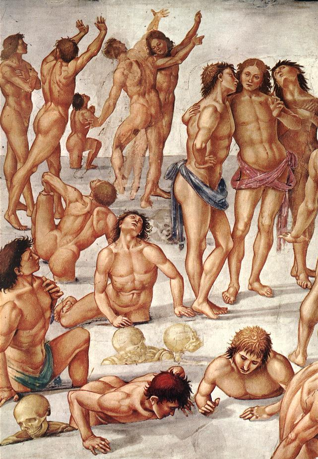 Signorelli had a huge influence on Michelangelo for his Last Judgment