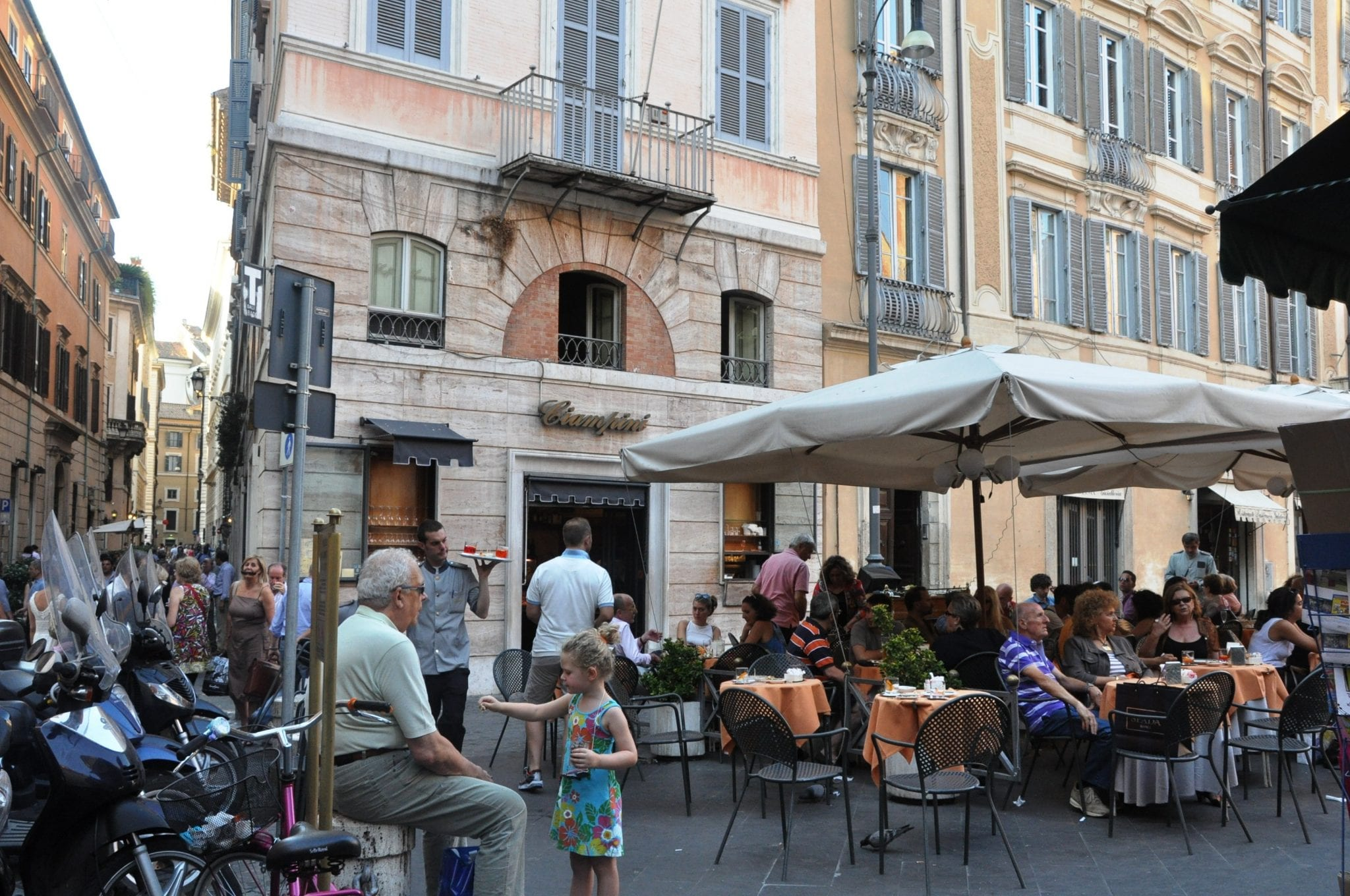 Get some of Italy's best gelato at this pretty piazza