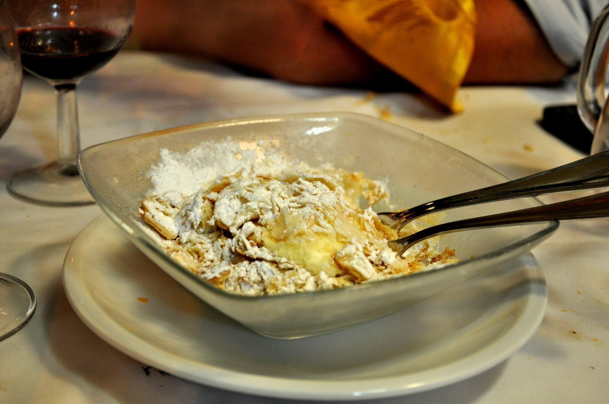 Most main Italian dishes don't have cream, but sweets often do!