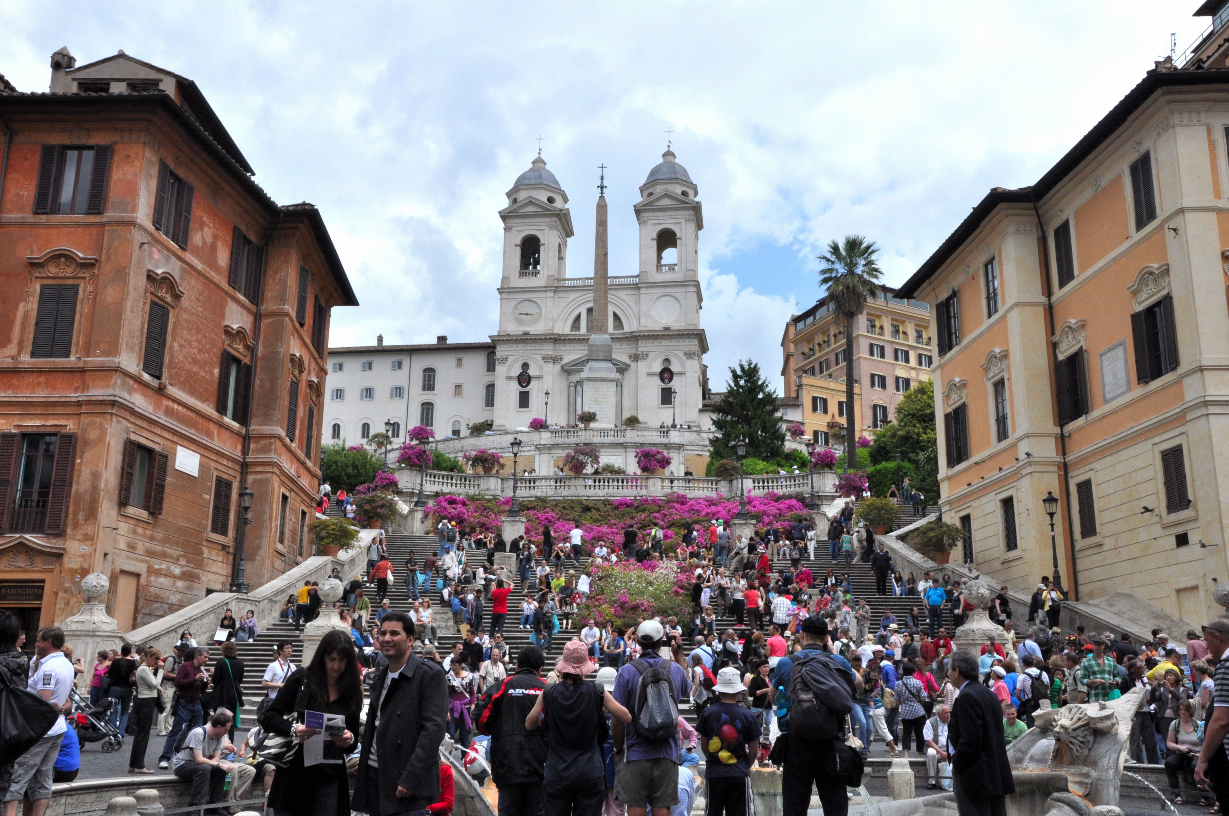 spring festival on the Spanish Steps, Rome, Italy