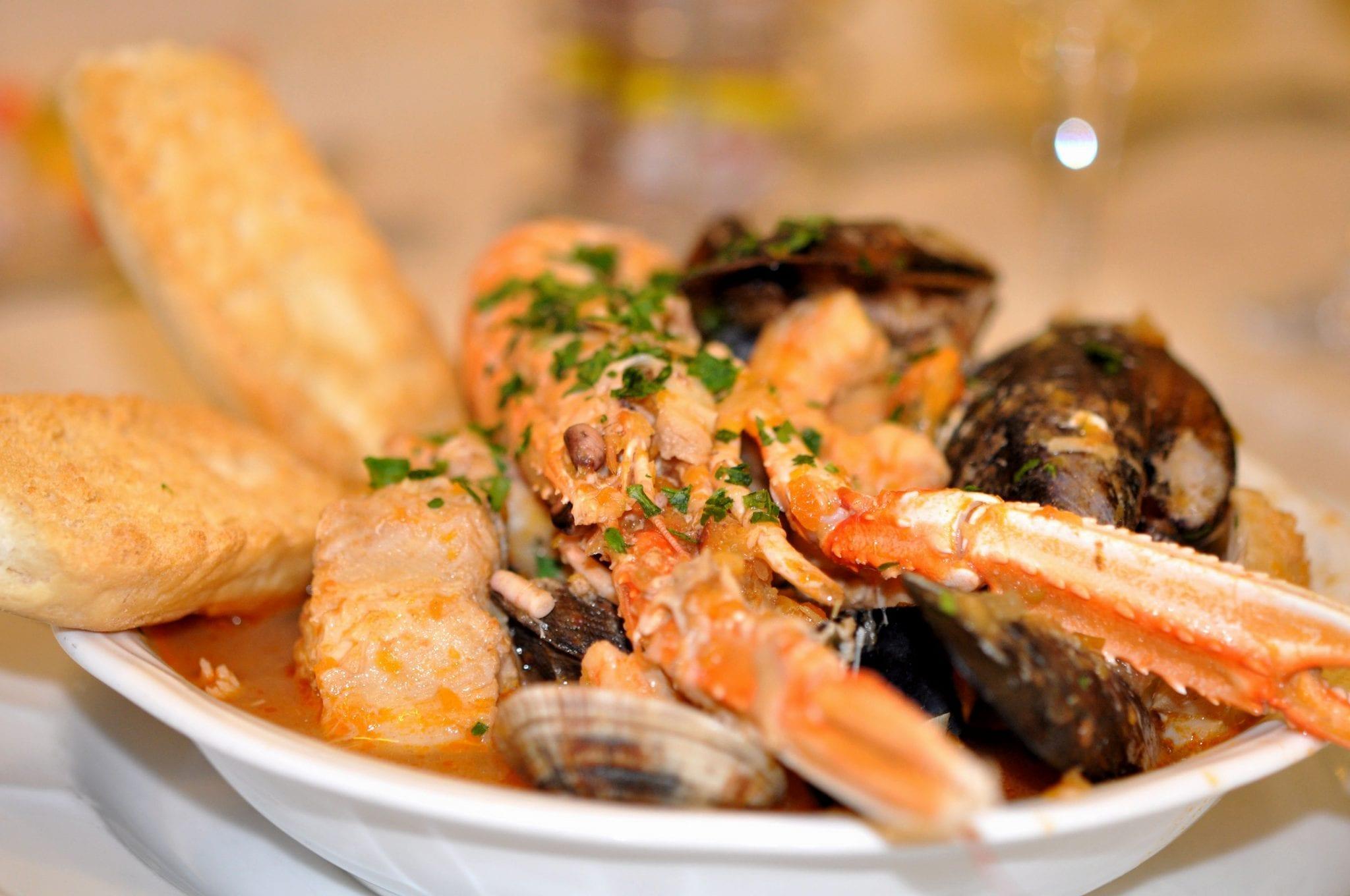 Seafood at a Venetian restaurant