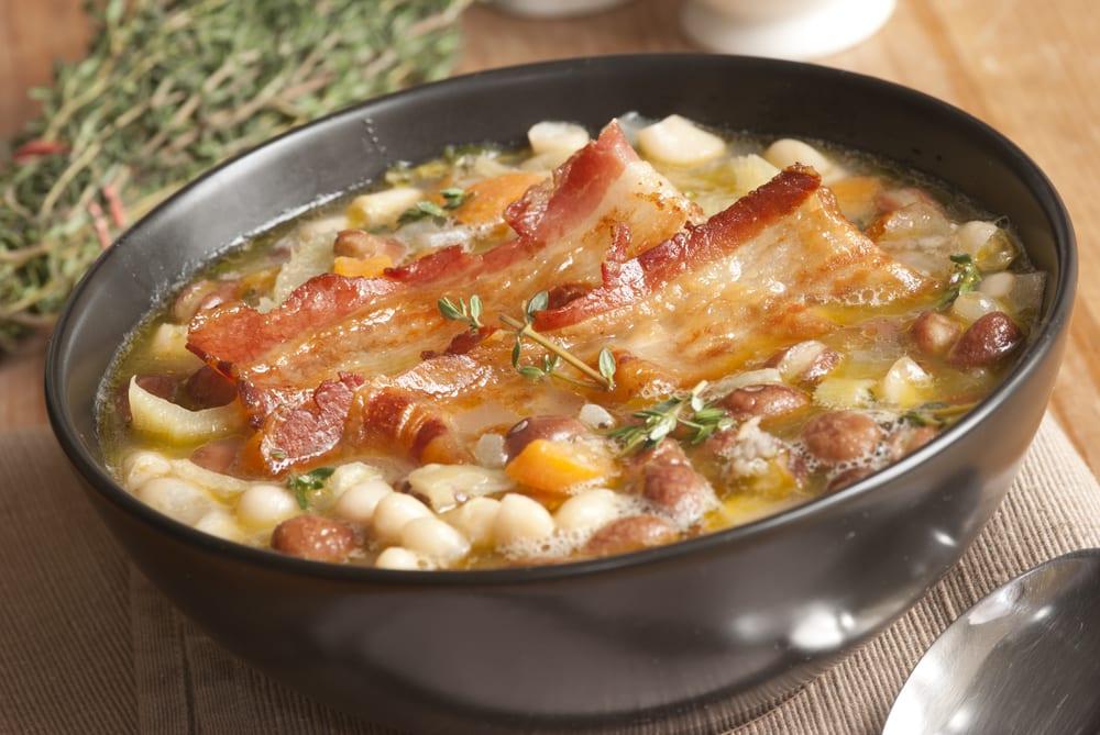 Soup isn't always a vegetarian or vegan option