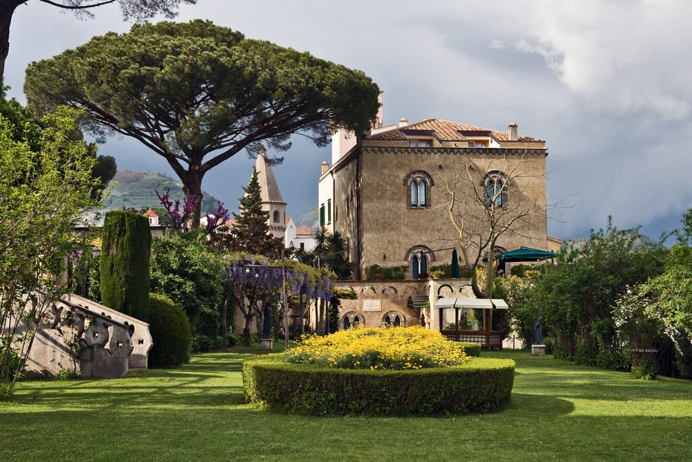 Beautiful garden's in Ravello, a hidden gem of the Amalfi Coast.