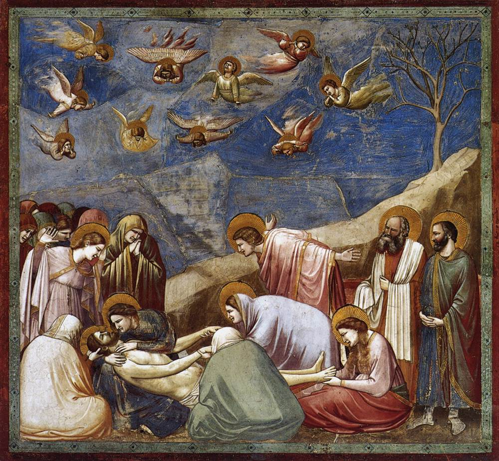 One of Giotto's most famous frescoes in the Scrovegni Chapel of Padua