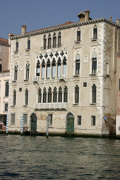 Two gates into a Venetian palace