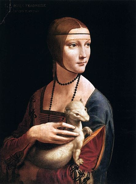"Da Vinci's famous ""Lady with an Ermine"" will be in London"