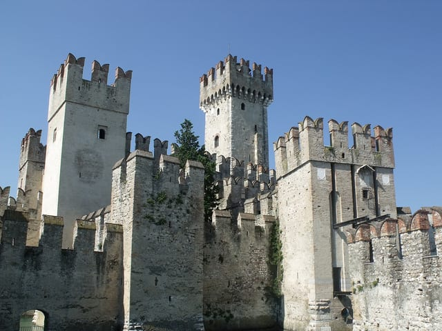 Scaligero Castle, at Lake Garda. Photo by Elliott Brown