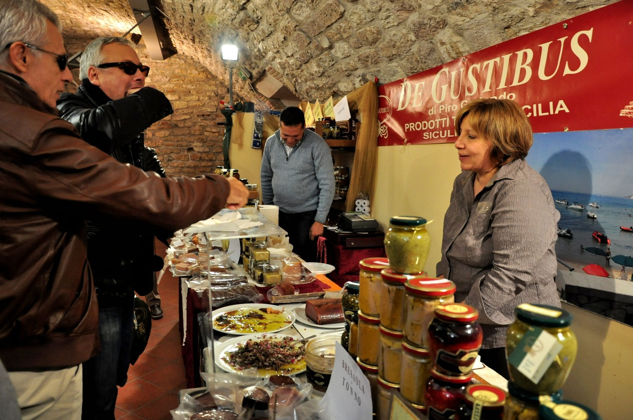 Specialty food tent in Umbria festival