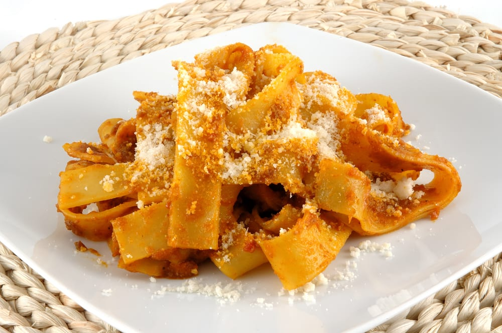 Fettuccini alle cinghiale, a dish for autumn in Italy