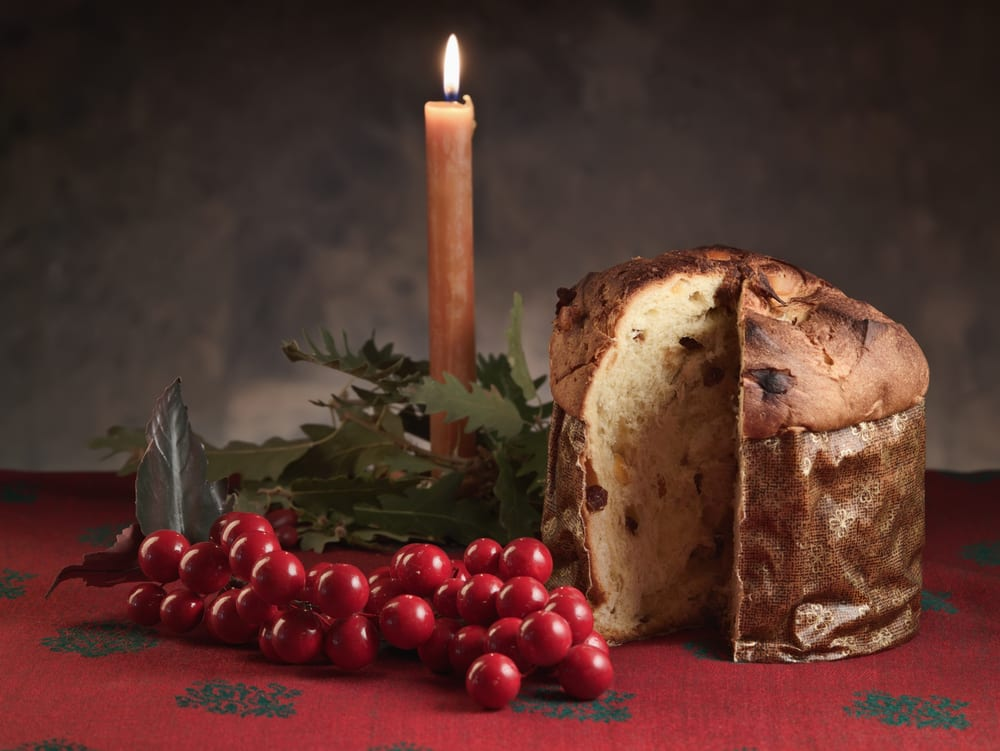 Holiday sweet bread in Italy