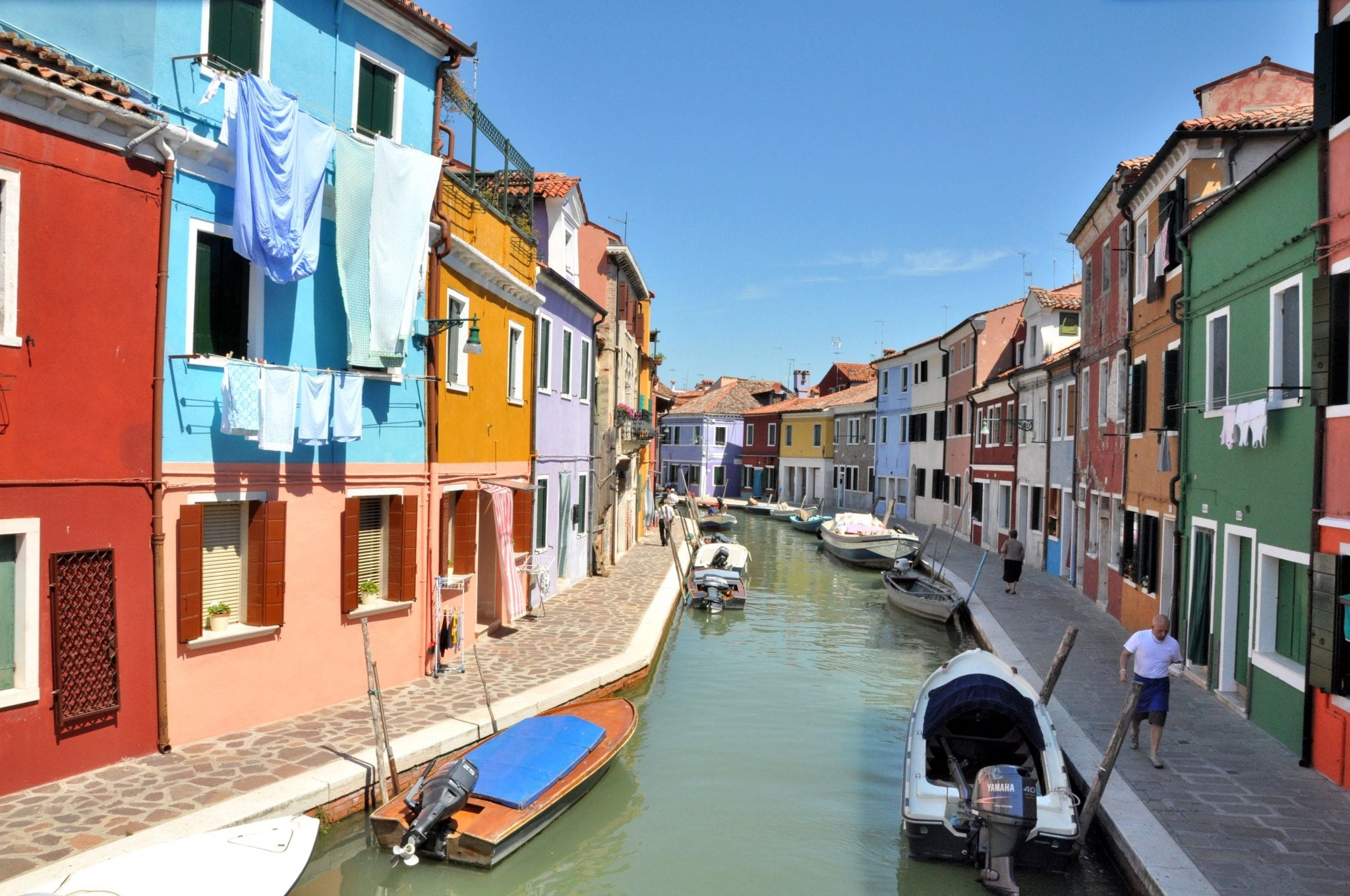The main canal of Burano