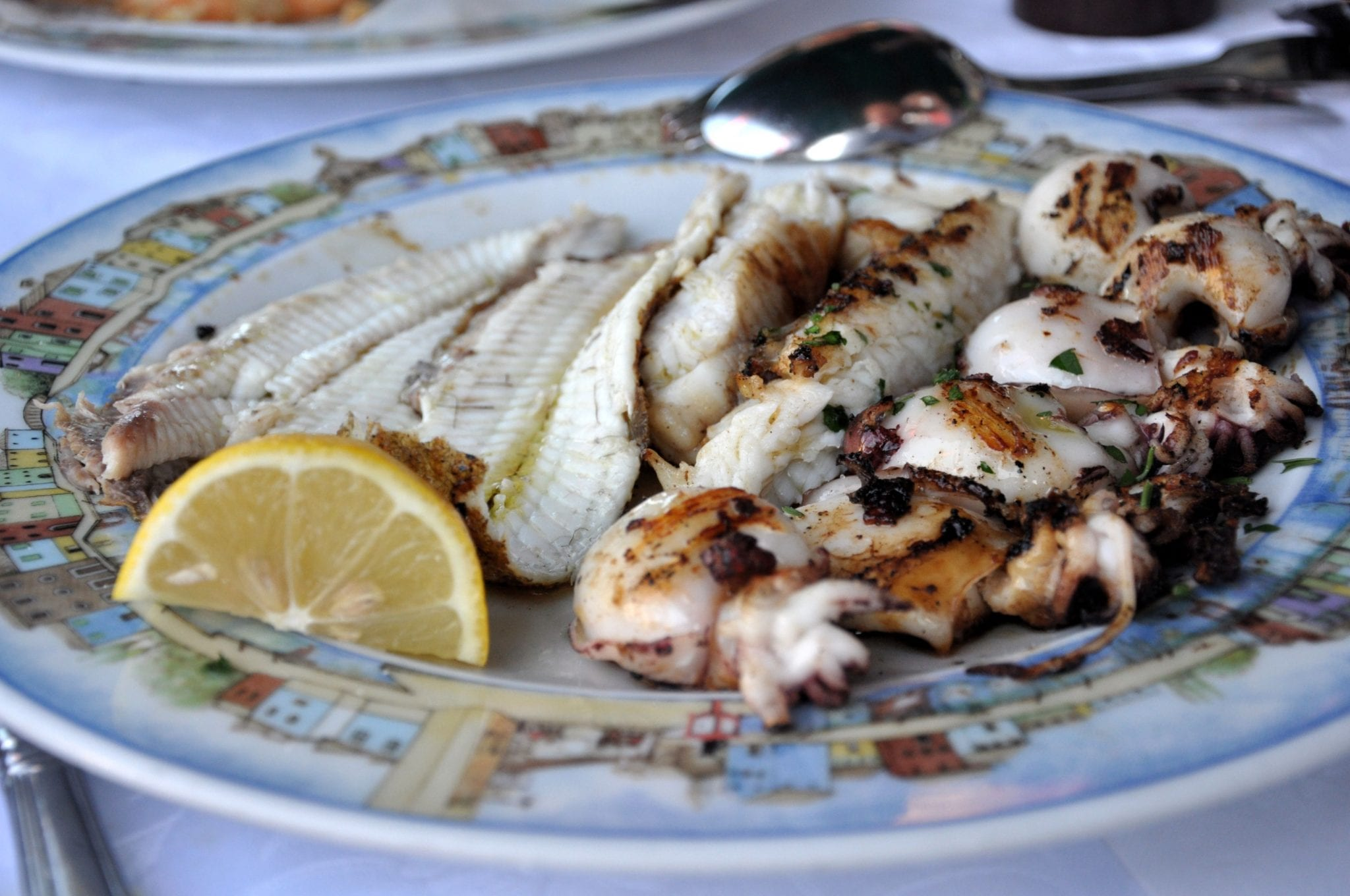 Seafood at Gatto Nero, a great restaurant on Burano