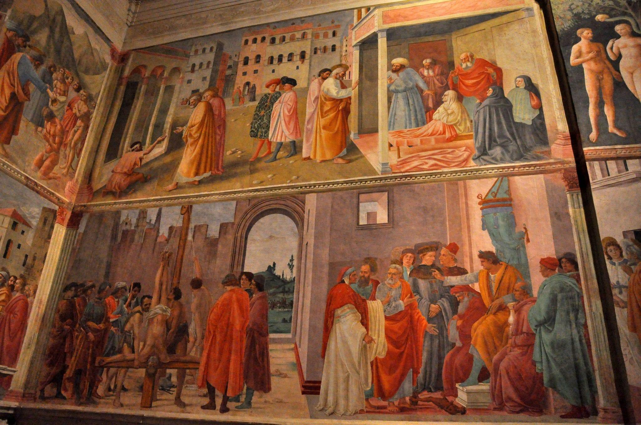 Masaccio frescoes in the Brancacci Chapel