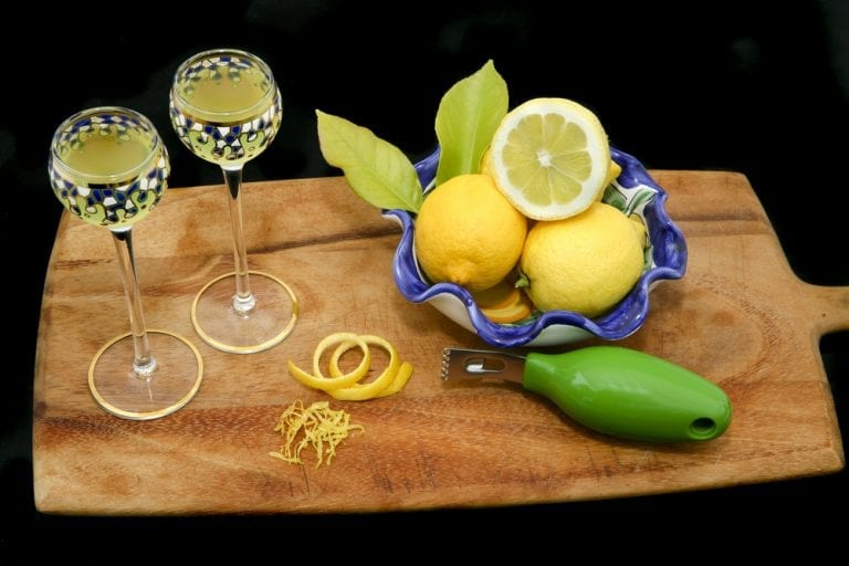 Limoncello, an Amalfi coast specialty