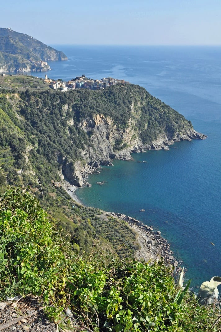 The beautiful coastline of the Cinque Terre