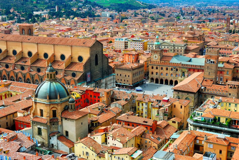 Bologna, Emilia-Romagna, is one of the lesser known of the most beautiful cities in Italy