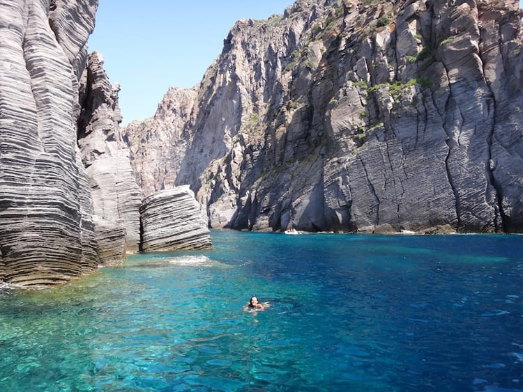 Spots like this one, not beaches, are the reason to go to the Aeolian islands!