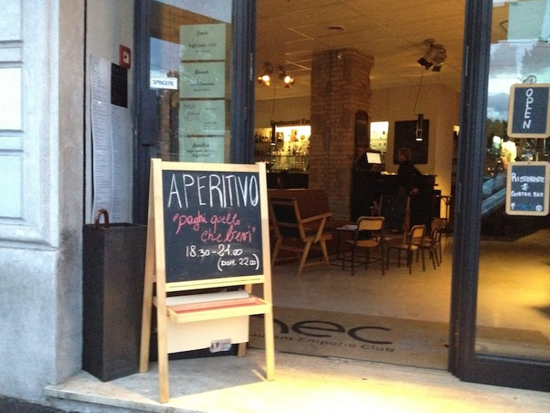 Aperitivo hours in Italy - take note!
