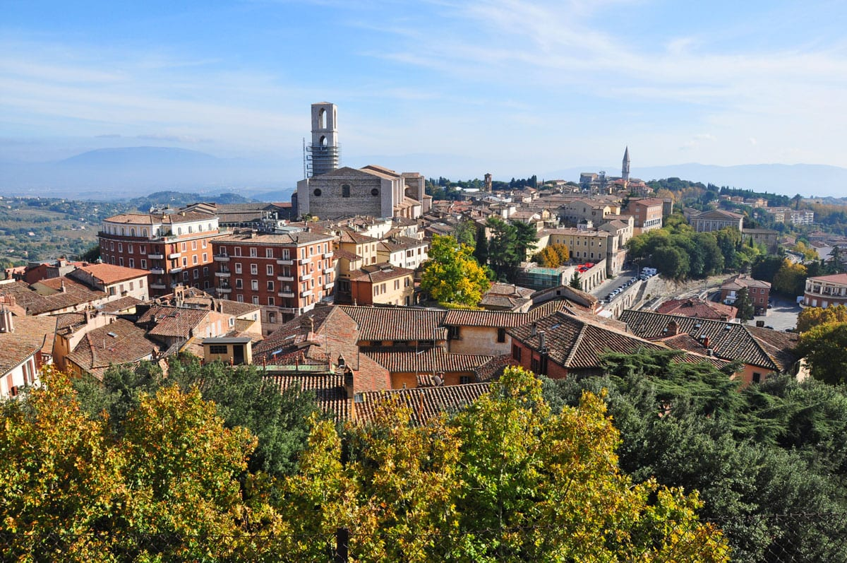 Perugia, one of the loveliest cities in Umbria