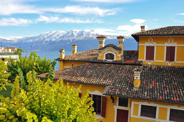 Snow-capped mountains over Lake Garda... one of the perks of coming in the off season!