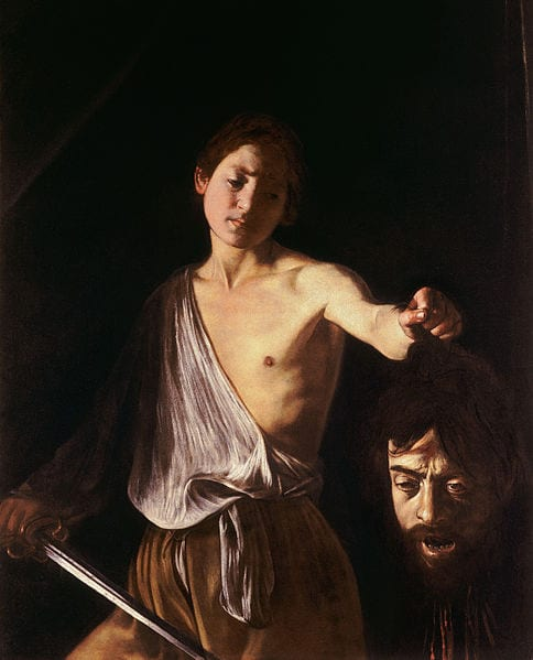 "Caravaggio's ""David with the Head of Goliath,"" in Rome"