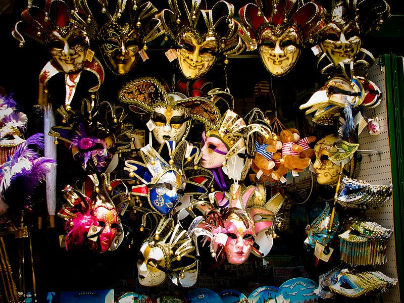 Venetian mask shop in Venice