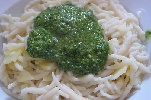 How it should be: pesto alla genovese on trofie pasta