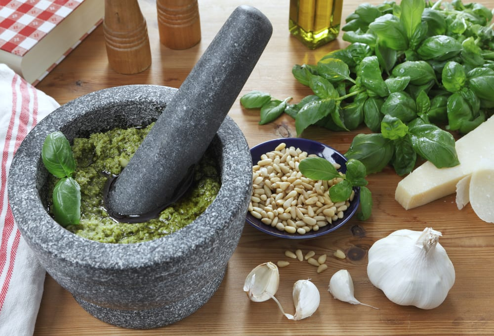 Pesto alla genovese, one of the most famous foods to come out of Liguria