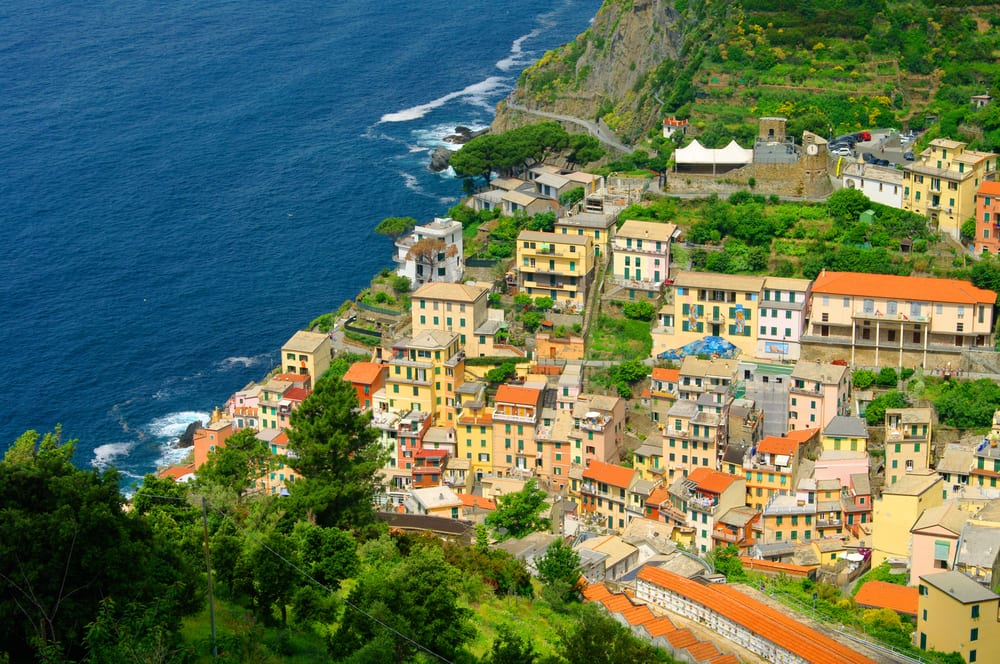 The small town of Riomaggiore, on the Cinque Terre