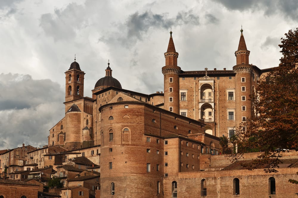 The Ducal Palace in Urbino, a beautiful city in Le Marche