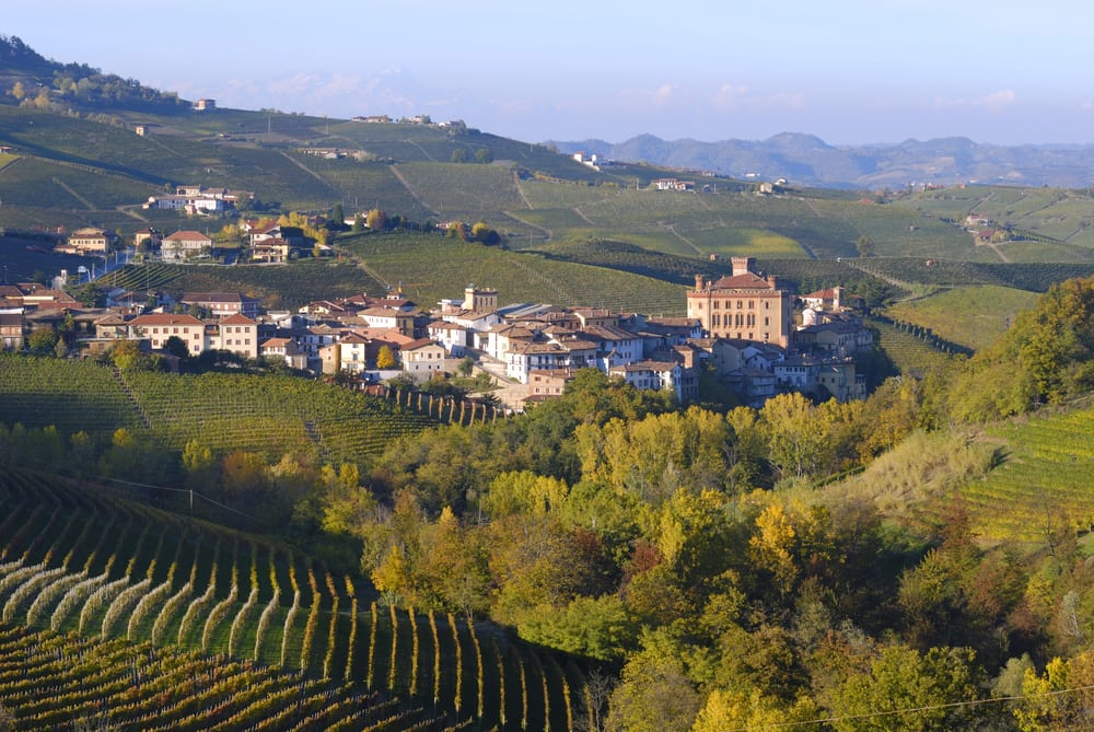 The village of Barolo, home to the famed wine, in Piedmont