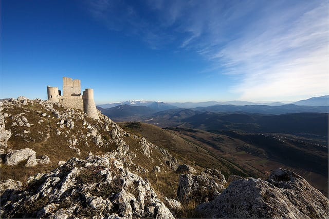 Castle on mountaintop (flickr: Stefano Maule)