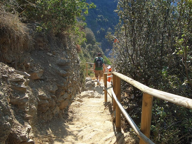 Hiking paths in the Cinque Terre