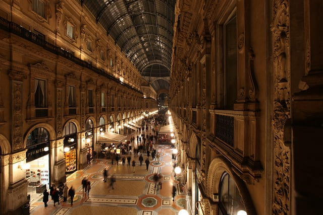 If you shop in Milan you have to stop by the Galleria Vittorio Emanuele II