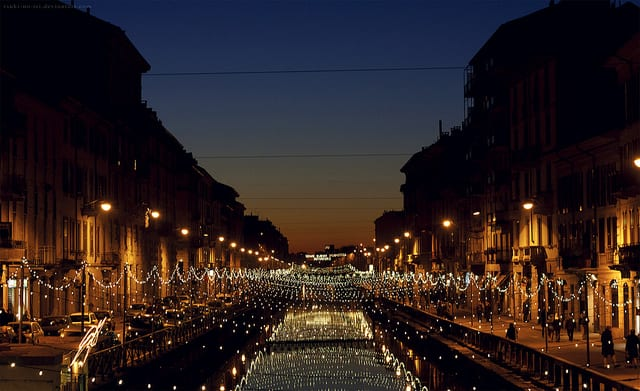 Navigli at sunset (flickr: abnormalbeauty.)