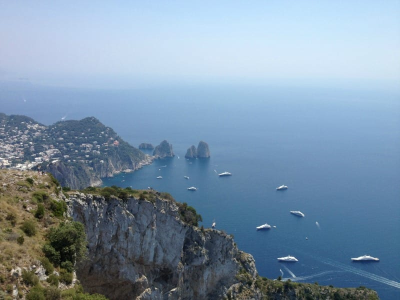 Splendid views from, Monte Solaro, the highest point of Capri.