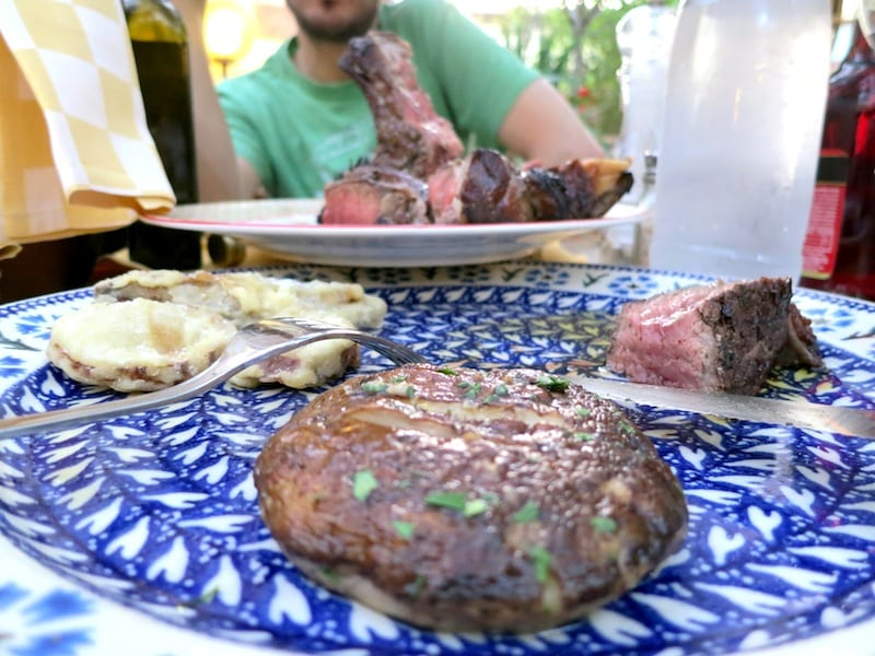 Il Fiesolano has the best bistecca fiorentina and portabello mushrooms!