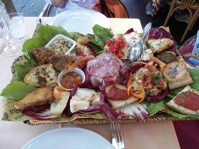Antipasto, part of an Italian menu