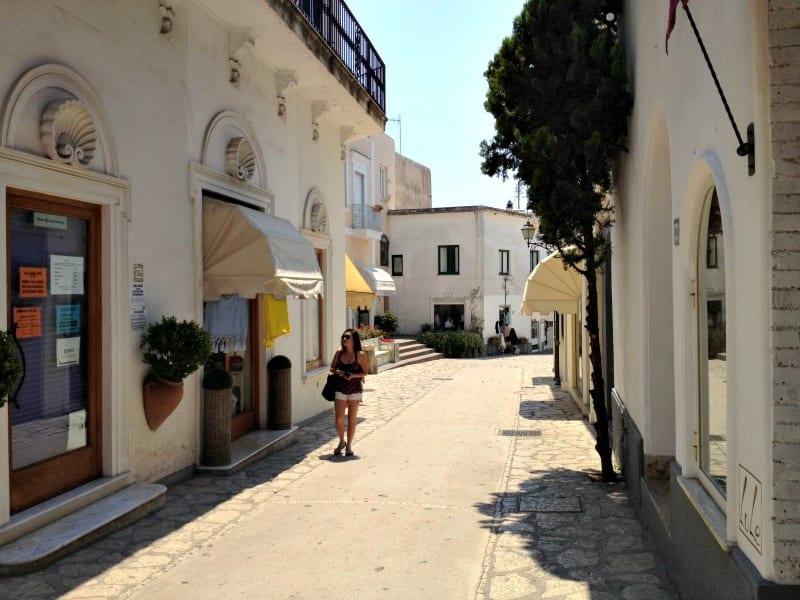 Towns on island of Capri