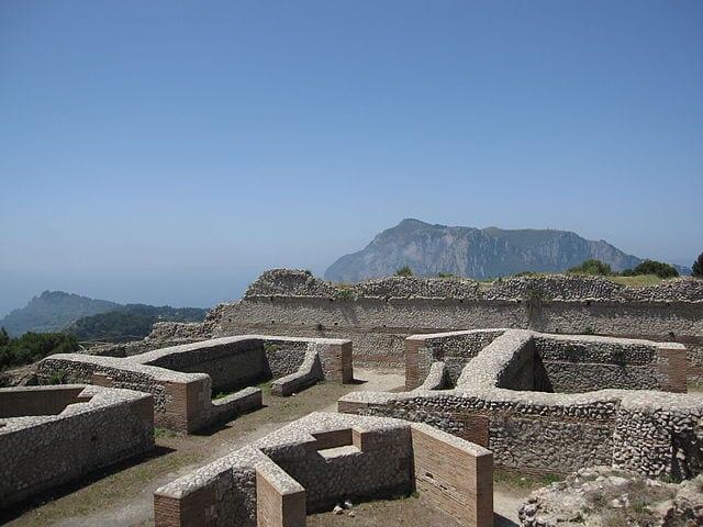 Capri town ruins