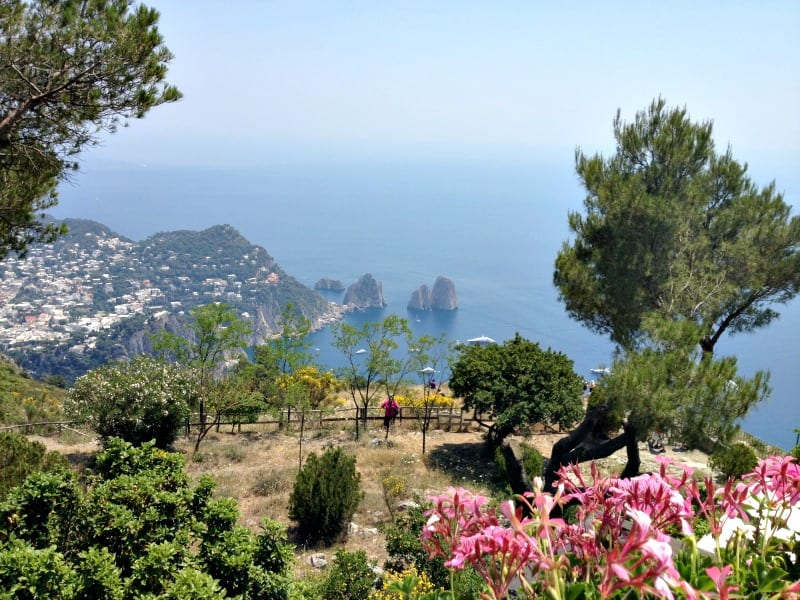 Capri town and Anacapri both boast spectacular views. Photo from Monte Solaro in Anacapri.