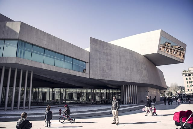 MAXXI, a modern museum of art in Italy