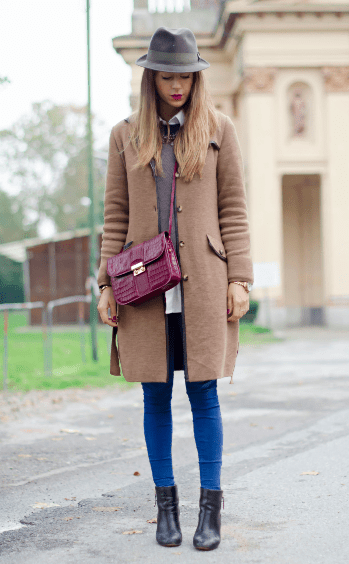 Slim fit jacket, hat and booties (Photo: Nicoletta Reggio of the Italian fashion blog Scent of Obsession).