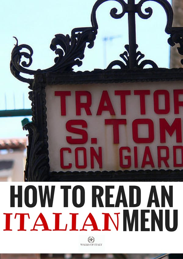 A traditional sign for an Italian tratoria, which usually serve delicious, homemade food in Italy. Find out how to read Italian menus in this helpful blog from walks of Italy.