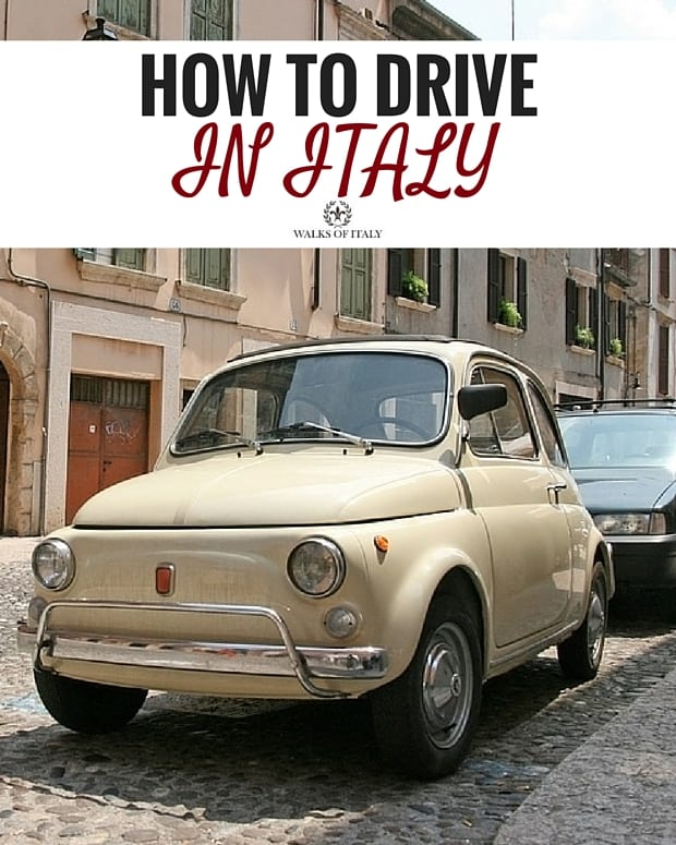 Driving in Italy, especially in a stylish, cream-colored vintage fiat like this, is one of the coolest ways to get around. Check out our tips for how to drive like a local.