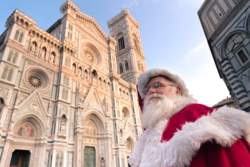 Santa in front of the Duomo di Firenze