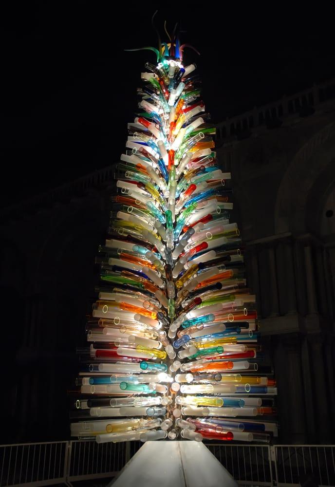 venice at christmas - Glass Christmas Tree