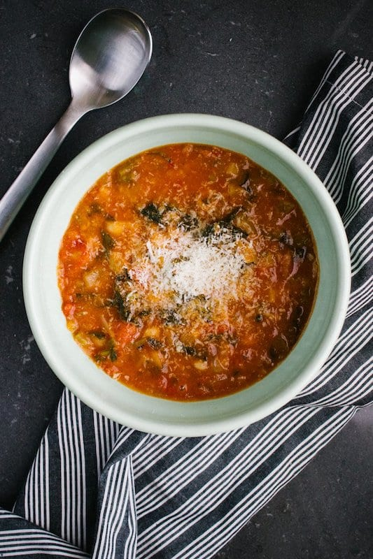 You can add any vegetable you have in the house to this Tuscan bread soup – and it's even better heated up the next day! Photo credit: Amelia Crook (via flickr)